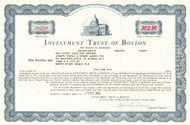 Investment Trust of Boston stock certificate 1964
