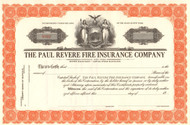 Paul Revere Fire Insurance Company circa 1930 stock certificate