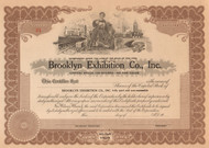 Brooklyn Exhibition Company circa 1926 stock certificate