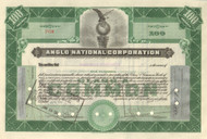 Anglo National Corporation 1932 stock certificate
