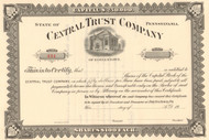 Central Trust Company of Doylestown  circa 1915 stock certificate