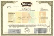 iVillage stock certificate 2001