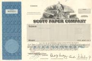 Scott Paper Company stock certificate 1982