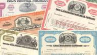 Railroad Stock Certificates - Five (5) Piece Set