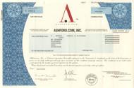 Ashford.com 2001 stock certificate