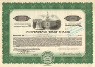 Independence Trust Shares 1931 stock certificate