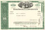 BankAmerica Corporation 1974 stock certificate