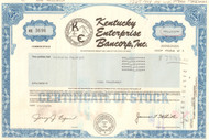 Kentucky Enterprise Bancorp stock certificate 1994 - now part of Fifth Third Bank