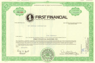 First Financial Bancorp stock certificate 1994
