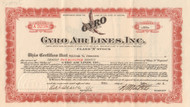 Gyro Air Lines, Inc stock certificate 1934