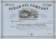Ocean Oil Company 1860's stock certificate