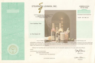Stearns and Lehman Inc - specimen stock certificate