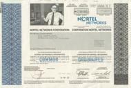 Nortel Networks 2002 stock certificate