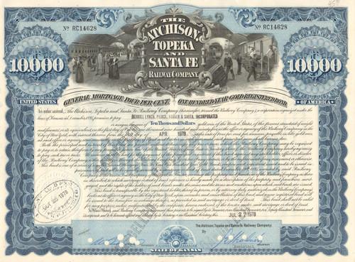 Atchison, Topeka, and Santa Fe Railway $10,000 bond 1978
