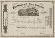 Standard Coal Company of Pennsylvania circa 1860 stock certificate