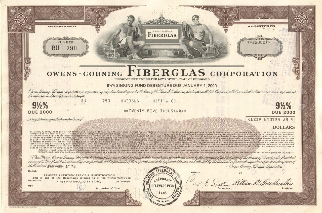 Owens-Corning Fiberglas Corporation 1970's