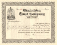 Charlestown Trust Company stock certificate circa 1911
