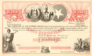 Cairo and Fulton Railroad Company stock certificate- Arkansas 1859