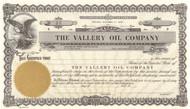 Vallery Oil Company stock certificate circa 1957