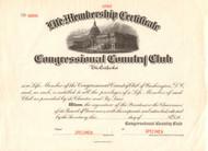 Congressional Country Club membership certificate specimen