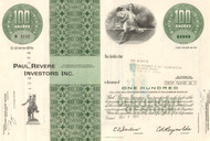 Paul Revere Investors stock certificate 1971 (insurance and investing)