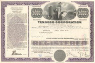 Tenneco Corporation $5000 bond certificate 1970's