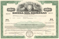 Shell Oil Company $1000 bond certificate 1974