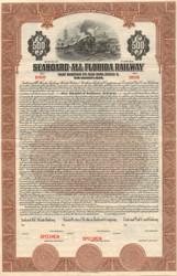 Seaboard-All Florida $500 bond certificate specimen