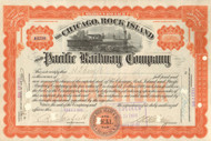 Chicago, Rock island, and Pacific Railway Company stock certificate 1915