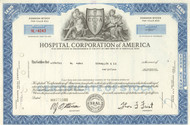Hospital Corporation of America stock certificate 1969