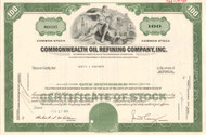 Commonwealth Oil Refining Company stock certificate 1970's