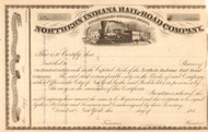 Northern Indiana Rail-Road Company stock certificate 1850's
