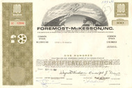 Foremost-McKesson Inc. stock certificate 1967