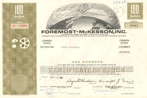 Foremost-McKesson Inc. stock certificate 1967