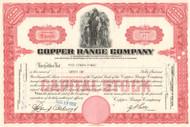 Copper Range Company stock certificate 1950's
