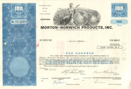 Morton-Norwich Products stock certificate 1970's