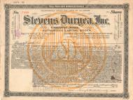 Stevens Duryea Inc stock certificate 1920