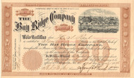 Bay Ridge Company stock certificate  1886