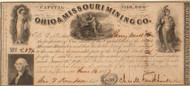 Ohio & Missouri Mining Co. stock certificate 1847