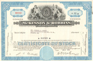 McKesson-Robbins Inc. stock certificate 1950's (McKesson health and drugs)