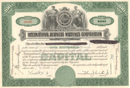 International Business Machines Corporation stock certificate 1950's (IBM - Big Blue)
