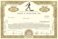 Simon & Schuster stock certificate 1970's