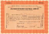 Splitdorf-Bethlehem Electrical Company stock certificate 1925