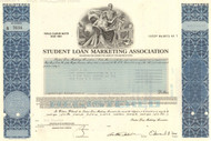 Student Loan Marketing Association bond certificate - 1980's (Sallie Mae)