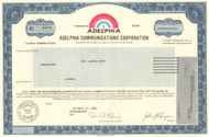 Adelphia Communication Corporation stock certificate - 2002  (massive corruption scandal) - John Rigas as president