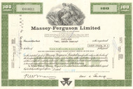 Massey-Ferguson Limited stock certificate - green