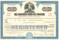 Brooklyn Union Gas bond certificate 1970's - dark blue