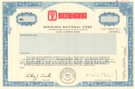 Benihana National Corp. stock certificate specimen