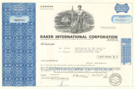 Baker International Corporation stock certificate 1970's  (oil drilling tools)