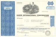 Baker International Corporation stock certificate 1970's  (oil drilling tools)